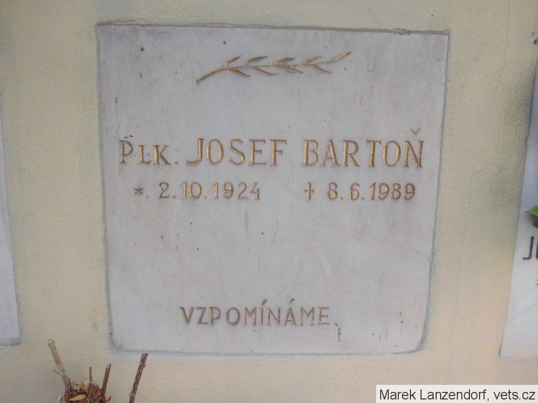 urna josef bartoň | spolek pro vojenská pietní místa
