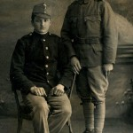 F.Masařík vlevo s kamarádem